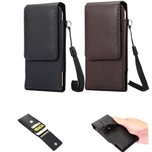 Wholesale Luxury Universal Holster Belt Clip Waist Man Flip PU Leather Wallet Cover Bag Phone Case For iPhone S Plus Samsung Galaxy S7