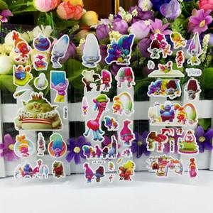100 pcs lot 3D Trolls Bubble Sticker Reward Kids Cute Cartoon Wall Stickers Puffy Bubble diy Toys Stickers diy scrapbook
