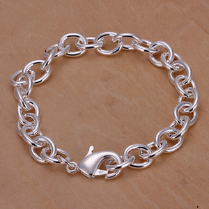 brand new Shrimp buckle thick men's 925 silver charm bracelet20cm DFMWB089, sterling silver plated jewelry bracelet
