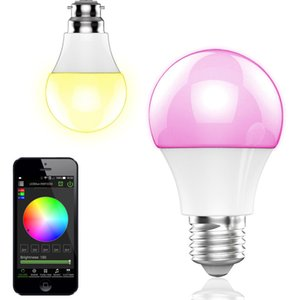 NEW Bluetooth LED Bulb 4.5W E27 RGBW Bluetooth 4.0 Wireless Smart LED Light Color Change Dimmable Bulbs IOS Android APP