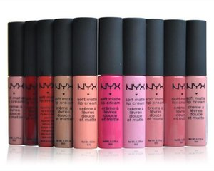 Wholesale NYX Soft Matte Lip Cream Lipstick NYX Makeup Charming Vintage Long lasting Daily Party Brand Glossy Makeup Lipsticks Lip Gloss