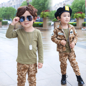 Child Camouflage Suit Airsoft Paintball Field Training Military Uniform Set Includes Jacket & Tactical Pants CP   Digital Desert