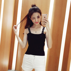Wholesale The spring and summer of basic models all match pure short thin knitted vest wearing female backing bralet tide