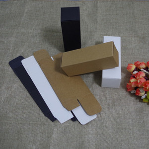 2018 Sale 100pcs lot 1.7 2.5 2.9 3.6cm White Black Kraft Paper Box Diy Lipstick Perfume Essential Oil Bottle Packaging Boxes free Shipping