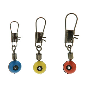 Wholesale Fishing Line Swivels Connector to Hook Shank Clip Interlock Snap Connector Sea Fishing Lure Beans Belt