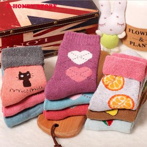Wholesale Hot sale! women's socks short Christmas Gift Sock Fashion Winter Rabbit Wool cartoon printed ladies cute Socks Female Thermal Warm Socks
