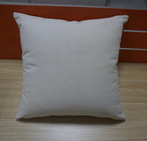 Wholesale 12 oz natural canvas pillow case x18 plain raw cotton embroidery blank pillow cover