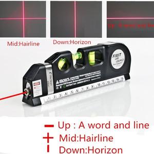 2017 HOT Multipurpose Laser Levels Horizon Vertical Measure Tape Aligner Bubbles Ruler multifunction laser level leveler tool Laser LV03
