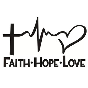 Wholesale faith hope love for sale - Group buy 1pc Automobiles Motorcycles Exterior Accessories Car Stickers Faith Hope Love English Letters Stickers Car Paster Auto Decal