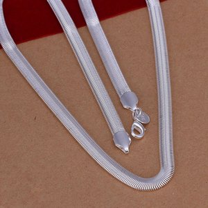 Wholesale Top Quality MM inch Soft Snake Bone Chain Necklace Plating Silver Snake Chain Simple Style Brand Fashion Jewelry for Men Elegant Women