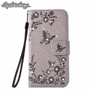 Wholesale Rhinestone Cases for Huawei Honor Lite P8 Lite P9 P9 Lite Case Fashion Phone Bags Cover Flip Case with Bling Diamond