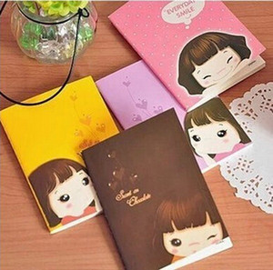 Wholesale- 1 PCS New Cute Kawaii Paper Notebook Lovely Girl Lined Paper Diary Journal for Kids Gift Korean Stationery