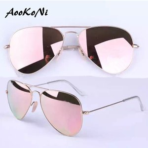 Wholesale AOOKO Hot Sale Gafas Style Mirror glass polarized Sun Glasse oculos de sol FEMININO UV400 Men Women Sunglasses full accessories