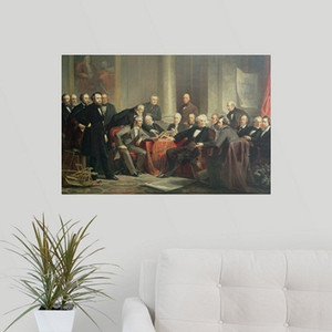 Wholesale group abstract art framed resale online - group portrait of the great American inventors Handpainted Art Oil Painting On High Quality Canvas Various Sizes