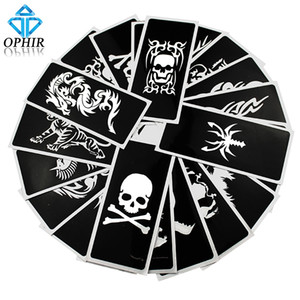 Wholesale OPHIR Reusable Airbrush Stencils Skull Animal series for Body Paint Temporary Tattoo Kit x cm_TA034 A B