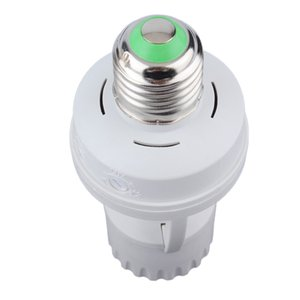 Wholesale AC V Degrees PIR Induction Motion Sensor IR infrared Human E27 Plug Socket Switch Base Led Bulb light Lamp Holder