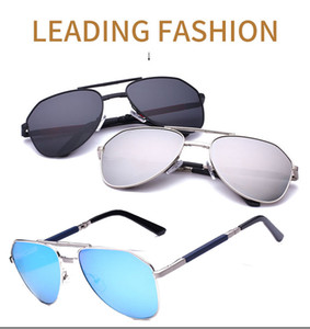 Wholesale 2017 new polarized sunglasses for men women bright color big frame folding toad mirror British fashion models driving sunglasses
