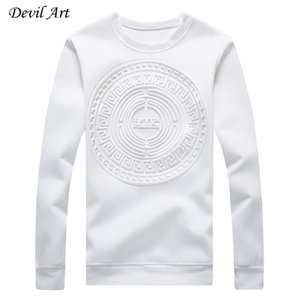 Wholesale-Men's Capless Hoodies Abstract Circular Patterns Pure Color Casual Sweatshirt Fashion Jacket Plus Size:M-5XL 968