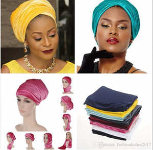 Wholesale Fashion Velvet Head wrap Woman Velvet Turban Headband India Caps Head Wraps Hijab Head Scarf S694
