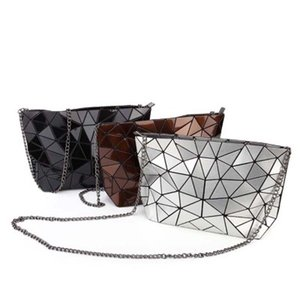 Wholesale ZYD-COOL Fashion Brand Flash Laser Shoulder Bag Women Bao Bao Bags irregular Clutch Handbag style Geometric Lady Casual Tote