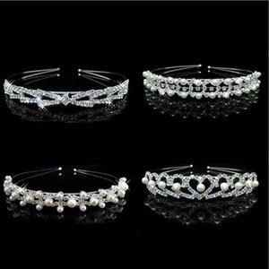 ingrosso jewerly capelli-Capelli Wedding Jewerly nuziale damigella d onore diademi Hoop HairBands Pearl fascia diademi Jewerly Accessori Commercio all ingrosso WH di trasporto