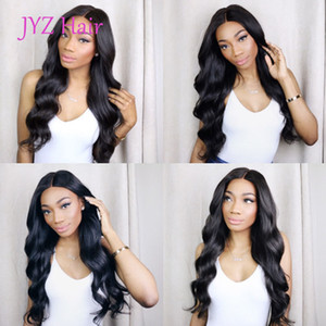 Wholesale malaysian wave lace wig resale online - Natural Color Full Lace Wigs Body Wave Human Hair Brazilian Peruvian Malaysian Indian Body Wave Lace Front Human Hair Wigs With Baby Hair