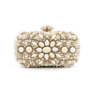 Wholesale New Arrive Women Evening Bags Nude Stone Diamond Clutch Bag Lady s Banquet Chain Handbag Luxury Day Clutch Female Nude