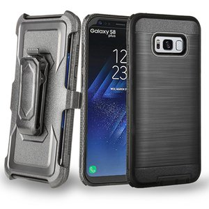 Wholesale For Samsung Note9 S9 Brushed Case Belt Clip Cover Hybrid Case with Holster For Iphone XS MAX XR XS X LG G6 MOTO Opp Bag Aicoo