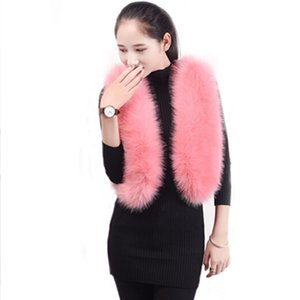 Wholesale Women Faux Fur Coat Vests Lady Short Fake Fur Clothes High Copy Fox Rabbit Waistcoat Pink Fur Sleeveless Coats Women New Clothes