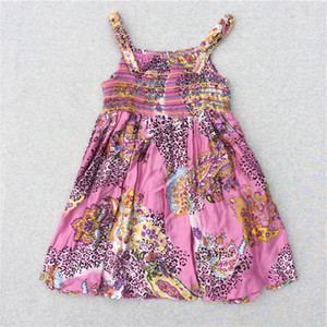 Wholesale Hot Sale Baby Girl Sleeveless Flower Dresses Kids Suny Beach Dress Princess Fairy Tulle Party Dance Dress New Summer