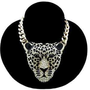 women sweater accessories sweater chain Europe and the United States Hot Fashion Leopard Head Necklace Jewelry long section necklace