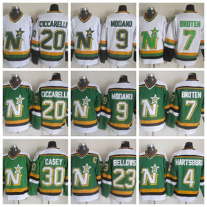 Vintage Minnesota North Stars Hockey Jerseys 9 Mike Modano 20 Dino Ciccarelli 7 Neal Broten 23 Brian Bellows 4 Craig Hartsburg Jon Casey