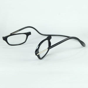 Wholesale New Standard Clic Resin Reading Glasses Magnet Latch Frame With Convenient Necklace Design Legs