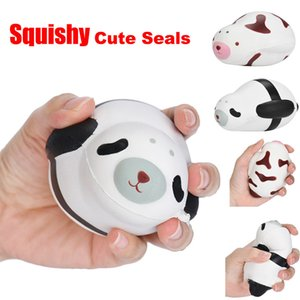 Wholesale New CM Cute Squishy Kawaii Seal Slow Rising Packing Cell Phone Strap Soft Squeeze Bread Scented Stretchy Toy Gift Pendant