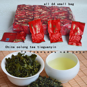 500g (17.6oz) 64small bags TieGuanYin tea,Fragrance Oolong,china tea health tea anxi tiekuanyin tieguanyin tea Free Shipping