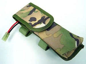 Wholesale Camouflage annex battery Pouch Bag External Large Pack for survival CS game Airsoft wargame AEG Tactical Outdoor Nylon