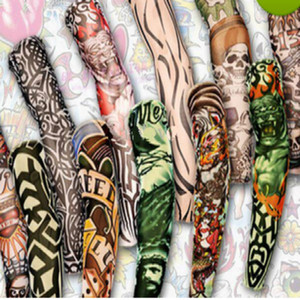 12pcs mix Free shipping elastic Fake temporary tattoo sleeve 3D art designs body Arm leg stockings tatoo cool