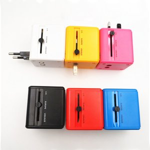 Wholesale USB port Worldwide Travel Adapter AC TO USB Power Wall Charger US EU UK AU Plug V A For tablet pc Mobile phone