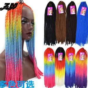 Wholesale Nightclub essential Women s wigs Black wig twist braids hollow pigtail hollow braids wig soft dread lock