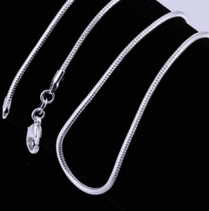Wholesale Big Promotions mm Silver P Smooth Snake Chain Necklace Lobster Clasps Chain Jewelry Size mm inch inch