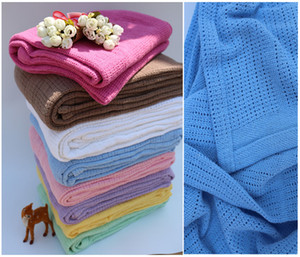 Wholesale Crochet Baby Blankets Cotton Baby Cellular Blankets Baby Towels Cot Bed Mosses Pram Soft Best Swaddle Blankets