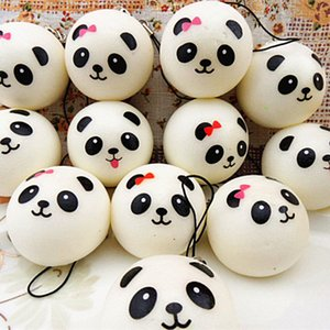3.8CM Cute Funny Panda Squishy Kawaii Buns Bread Charms Key Bag Cell Phone Straps Gift Keychain