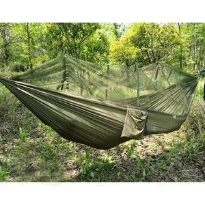 Wholesale Strength Fabric MosquitoNet Portable Camping Hammock Lightweight Hanging Bed Durable Packable Travel Bed Color