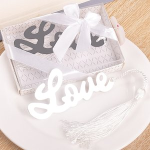 Wholesale 200pcs Letter Love Bookmark With Tassel Metal Bookmark For Books Wedding Favor Gifts Stationery WA2100