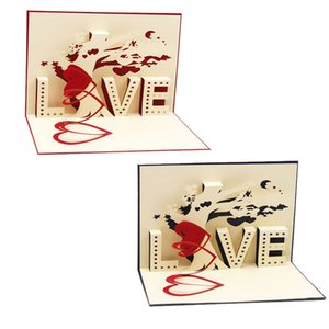 Wholesale D Pop Up Cards Cupid Heart Happy Valentine Anniversary Birthday Christmas Y103