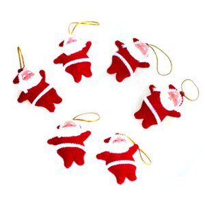 Wholesale Small red santa doll pendant Christmas tree decoration plush toy small pendant Christmas supplies