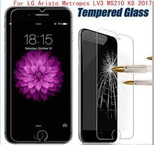Wholesale For LG LS777 Stylo plus Metropcs Aristo Metropcs LV3 V3 MS210 K8 Tempered Glass Screen Protector Film without retail package