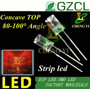 Wholesale- Low price! RED 5MM strip led 620-630nm Flat top Concave led 1.8-2.2V DIP LED(CE&Rosh) on Sale