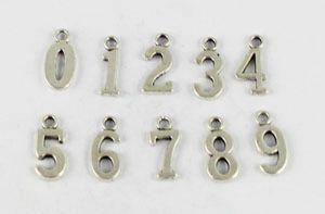 Wholesale 80 Tibetan silver gold bronze assorted number charms pendants