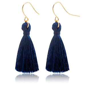 hameçons à la mode bleue achat en gros de-news_sitemap_homeSapphire Blue Mode Sweet Tassels Boucle d oreilles Mode Golden Fish Ear Crochet Antique Dangle lustre Femmes Pendentif Boucles d oreilles Party Bijoux Cadeau